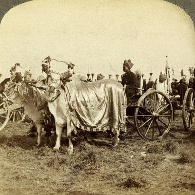 Silver Cannon of the Maharaja of Baroda, Delhi, India-Underwood & Underwood-Photographic Print