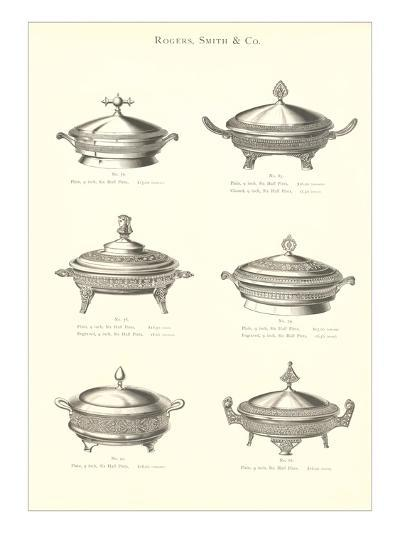 Silver Chafing Dishes--Art Print