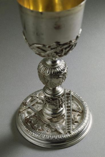 Silver Chalice, Base with Reliefs Representing the Symbols of Jesus Christ's Passion--Giclee Print