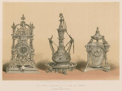 Silver Chased Clocks and Ewer by Barbedienne, Paris--Giclee Print