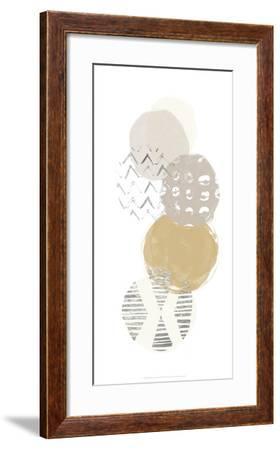 Silver Circular Synergy II-June Erica Vess-Framed Art Print