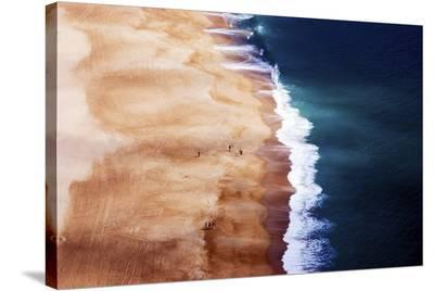 Silver Coast--Stretched Canvas Print