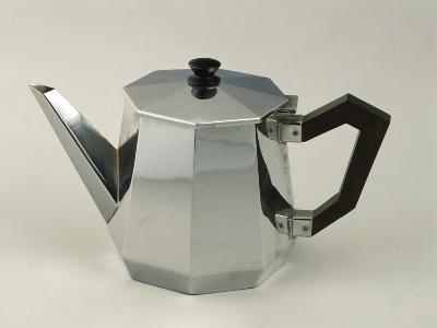 Silver Coffeepot. Alessi Manufacturing, 1935-37--Giclee Print