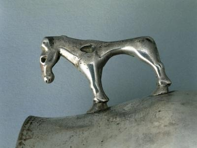 Silver Cup with Zoomorphic Handle--Giclee Print
