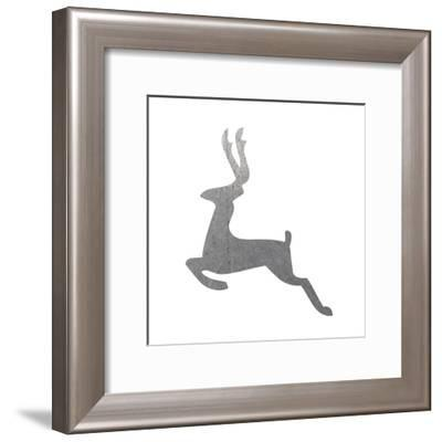 Silver Deer 3-Melody Hogan-Framed Art Print