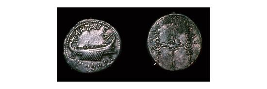 Silver Denarii of the Roman politician Mark Antony, 1st century BC. Artist: Unknown-Unknown-Giclee Print