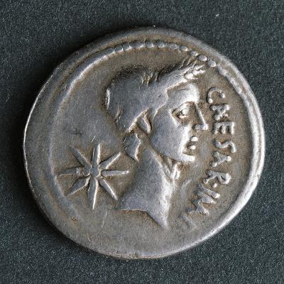 Silver Denarius of Julius Caesar at Time of First Triumvirate, Recto, Roman Coins BC--Giclee Print