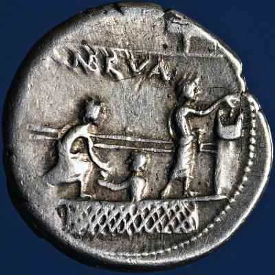 Silver Denarius with Scenes of Voting in Rome, 110-94 BC Roman Coins, 2nd-1st Century BC--Giclee Print