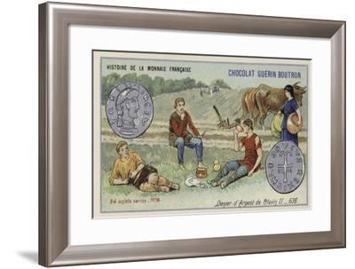 Silver Denier of Clovis II, 638--Framed Giclee Print