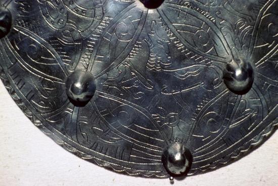 Silver disc brooch of Ædwen, Anglo-Scandinavian, first half of the 11th century. Artist: Unknown-Unknown-Giclee Print