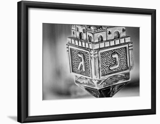 Silver Dreidel--Framed Poster