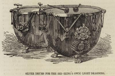 Silver Drums for the 3rd (King's Own) Light Dragoons--Giclee Print