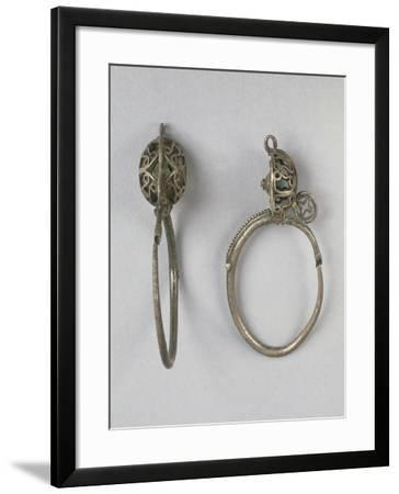 Silver Earrings, Longobard Civilization--Framed Giclee Print