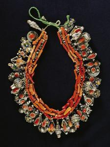 Silver, Enamel and Coral Necklace, Algeria