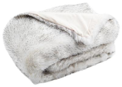 Silver Faux Throw--Home Accessories