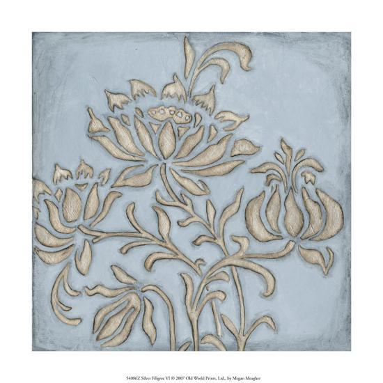 Silver Filigree VI-Megan Meagher-Giclee Print