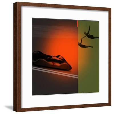 Silver Flight-NaxArt-Framed Premium Giclee Print