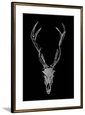 Silver Foil Rustic Mount I on Black-Ethan Harper-Framed Art Print