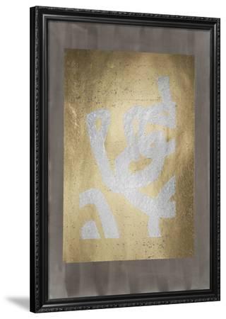 Silver Foil Symbiotic I on Gold Foil & Sepia Wash-June Vess-Framed Art Print