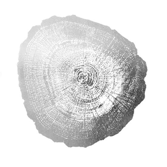 Silver Foil Tree Ring IV-Vision Studio-Art Print