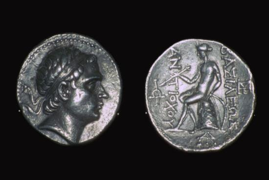 Silver four drachms of King Antiochus III. Artist: Unknown-Unknown-Giclee Print