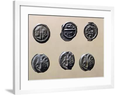 Silver Gallic Coins, Gallic Coins--Framed Giclee Print