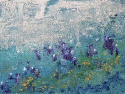Silver Gardenscape-Hilary Winfield-Giclee Print