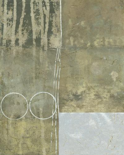 Silver Gilded Abstract I--Art Print
