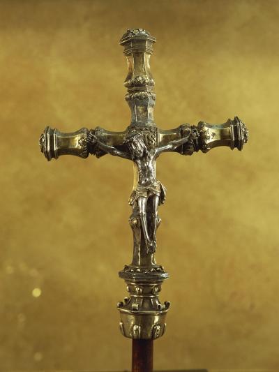 Silver Gilt Processional Cross, from Donas Sentarem Convent, Lisbon--Giclee Print