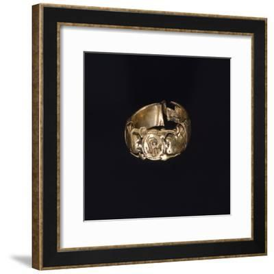 Silver Gilt Ring. Etruscan Civilization.--Framed Giclee Print