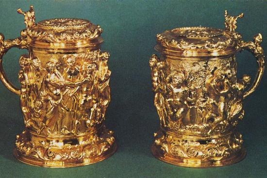 'Silver-gilt tankards, c.1661', 1953-Unknown-Photographic Print