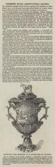 Silver-Gilt Vase Presented to H Dobree, Esquire, of Guernsey--Giclee Print