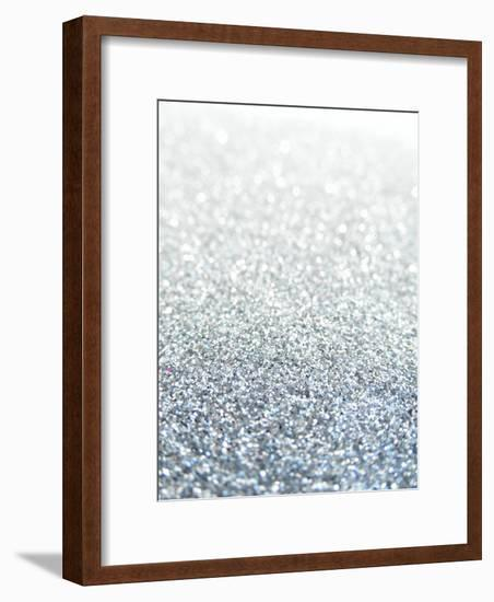 Silver Glitter Sparkley Style-Wonderful Dream-Framed Art Print