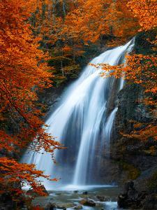 Beautiful Waterfall. Autumn by silver-john