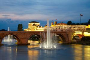 Macedonian's Capital City Skopje. Old Stone Bridge by silver-john