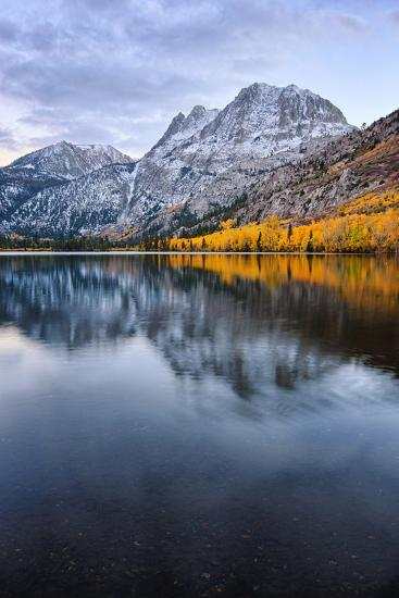 Silver Lake in Reflection in Autumn, Eastern Sierras, California-Vincent James-Photographic Print