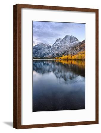 Silver Lake in Reflection in Autumn, Eastern Sierras, California-Vincent James-Framed Photographic Print