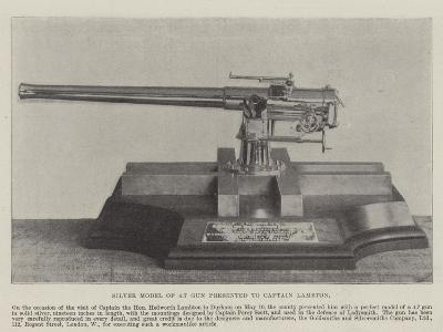 Silver Model of 4.7 Gun Presented to Captain Lambton--Giclee Print