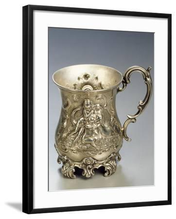 Silver Mug with Cupids and Embossing, London, England--Framed Giclee Print