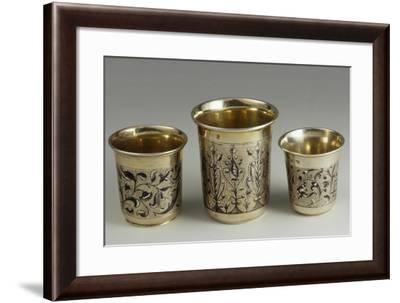 Silver Niello Cups Made--Framed Giclee Print