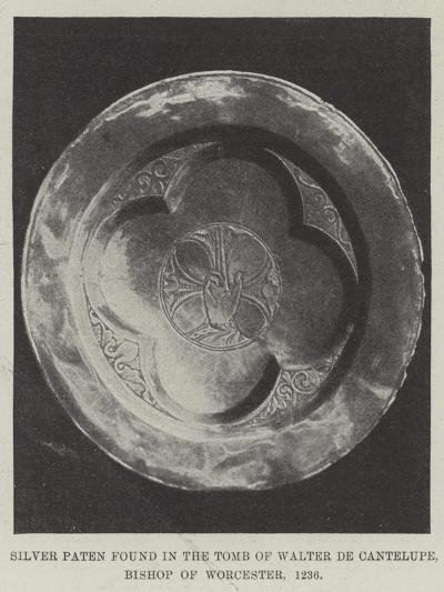 Silver Paten Found in the Tomb of Walter De Cantelupe, Bishop of Worcester, 1236--Giclee Print
