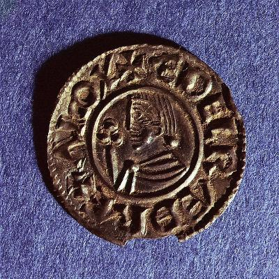 Silver Penny of Ethelred II (978-1016) Crvx (Crux) Type with Sceptre with Trefoil Head--Giclee Print
