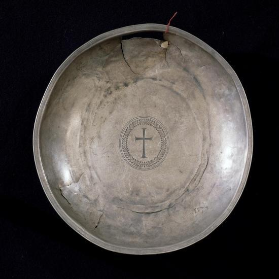 Silver Plate from the Canoscio Hoard, Perugia, Umbria, Italy--Giclee Print