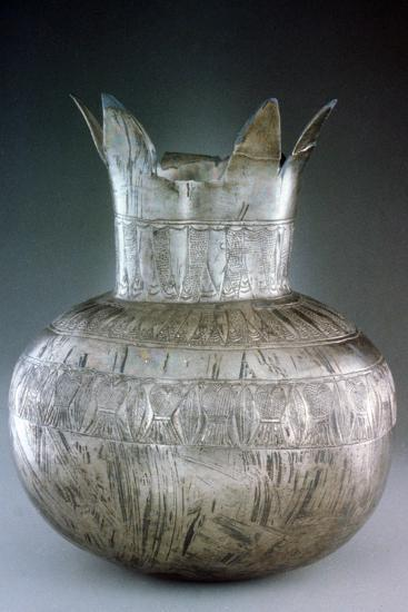Silver Pomegranate Vase, from Tutankhamun's Tomb, 14th Century Bc--Photographic Print