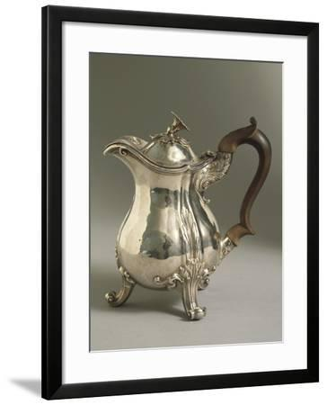 Silver Pot with Wooden Handle by Paul Storr, George Vi Style, 1826--Framed Giclee Print