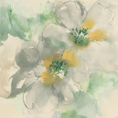 Silver Quince I Teal-Chris Paschke-Art Print