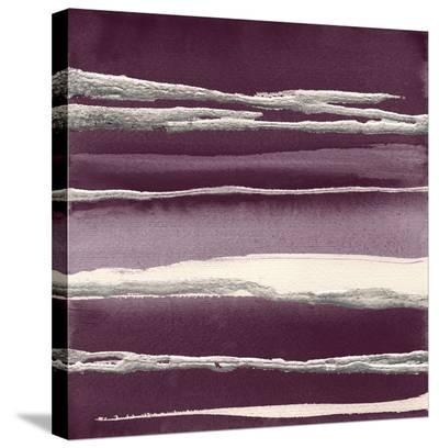 Silver Rose I Purple-Chris Paschke-Stretched Canvas Print