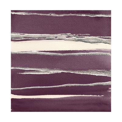 Silver Rose II Purple-Chris Paschke-Art Print