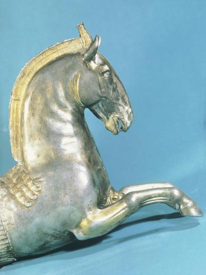 Silver Rython with Protome in Shape of Horse--Giclee Print