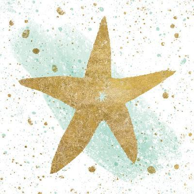 Silver Sea Life Aqua Starfish-Wild Apple Portfolio-Art Print